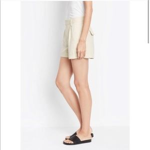 Vince Linen Blend Casual Shorts Ivory